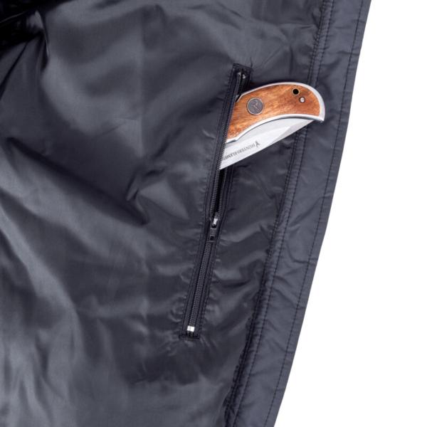 Glacier Jacket Black Zip Pocket Rgb