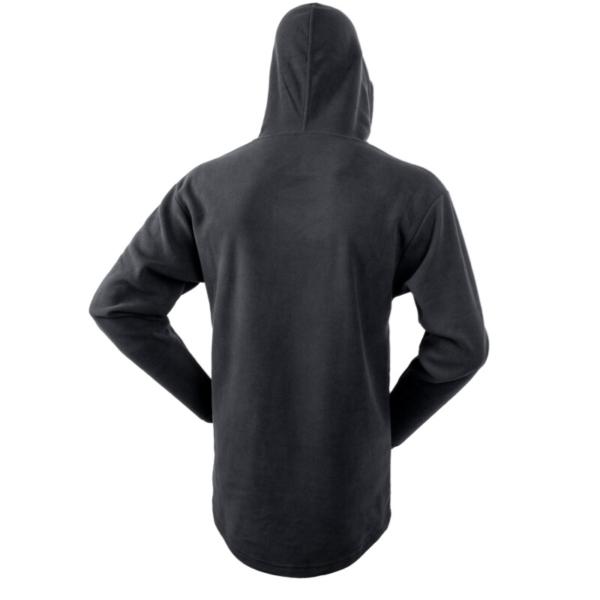 Amble Fleece Hoodie Back Black Rgb